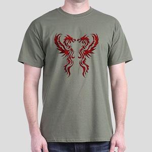 Twin Dragons Dark T-Shirt