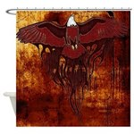 Brown Bald Eagle Shower Curtain