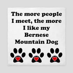 My Bernese Mountain Dog Queen Duvet