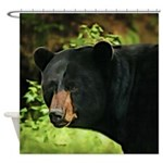 Brown Nose Bear Shower Curtain