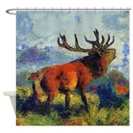 Surreal Elk Shower Curtain