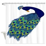 Preening Peacock Shower Curtain