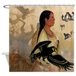 Raven Maven Shower Curtain