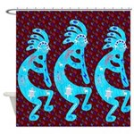 Lizard Kokopelli Shower Curtain