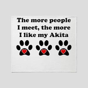 My Akita Throw Blanket