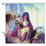 Hawk Woman Shower Curtain