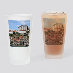 Historic buildings and river, Porto Drinking Glass