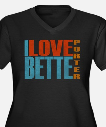 I Love Bette Women's Plus Size V-Neck Dark T-Shirt