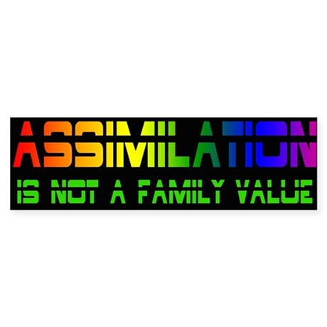 Assimilation Is not a Family Value