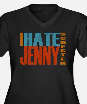 I Hate Jenny Women's Plus Size V-Neck Dark T-Shirt
