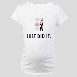 Financial Trader Maternity T-Shirt