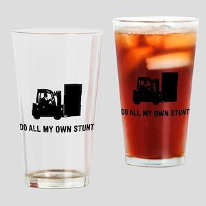 Forklift Operator Drinking Glass
