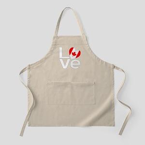 White Canadian LOVE Apron