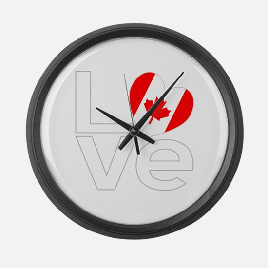 White Canadian LOVE Large Wall Clock