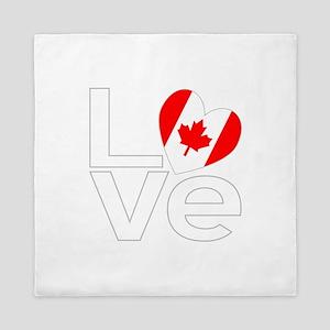 White Canadian LOVE Queen Duvet