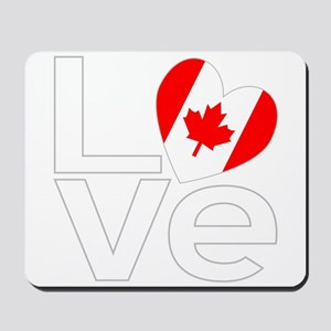 White Canadian LOVE Mousepad