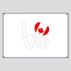 White Canadian LOVE Banner