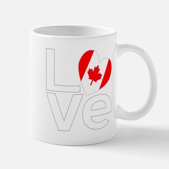 White Canadian LOVE Mug
