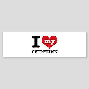 I love my Chipmunk Sticker (Bumper)