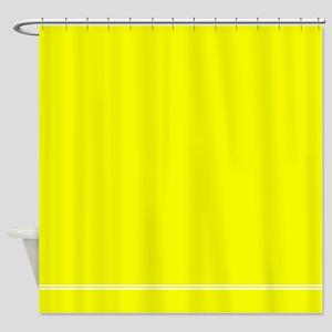 Neon Yellow Shower Curtain
