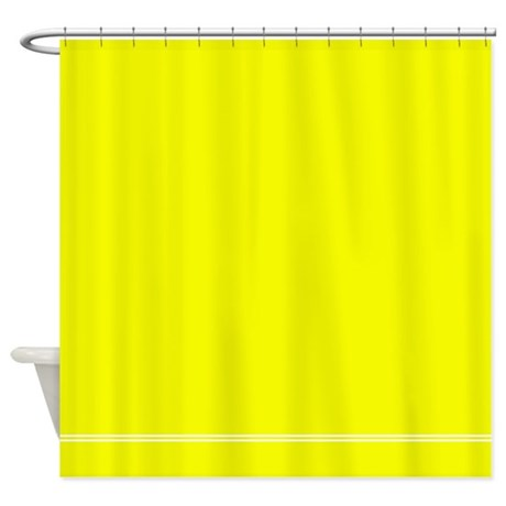 Neon Yellow Shower Curtain By InspirationzStore