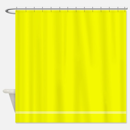Neon Yellow Shower Curtain