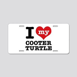 I love my Cooter Turtle Aluminum License Plate