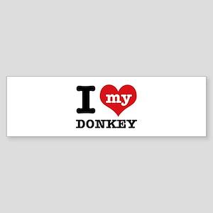 I love my Donkey Sticker (Bumper)