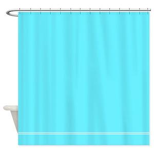 Bright Blue Shower Curtain