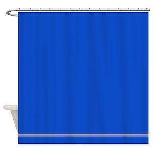 Solid Dark Blue Shower Curtains
