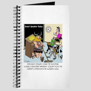 Conan The Custodian in Slacker class Journal