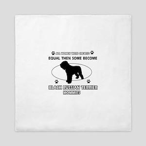 Black Russian Terrier mommy gifts Queen Duvet
