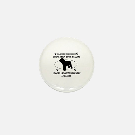 Black Russian Terrier mommy gifts Mini Button
