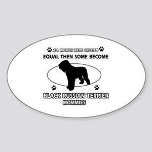 Black Russian Terrier mommy gifts Sticker (Oval)