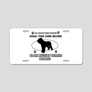 Black Russian Terrier mommy gifts Aluminum License