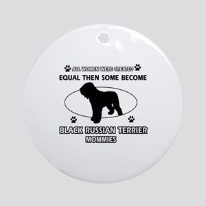 Black Russian Terrier mommy gifts Ornament (Round)