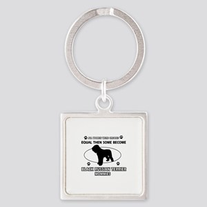 Black Russian Terrier mommy gifts Square Keychain