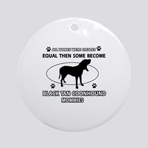 Black Tan Coonhound mommy gifts Ornament (Round)