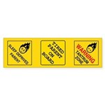 Parental Warning Signs Sticker Set