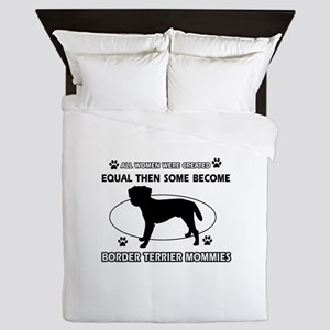 Border Terrier mommy gifts Queen Duvet