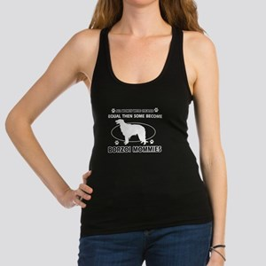 Borzoi mommy gifts Racerback Tank Top