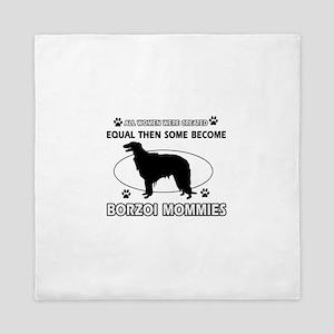 Borzoi mommy gifts Queen Duvet