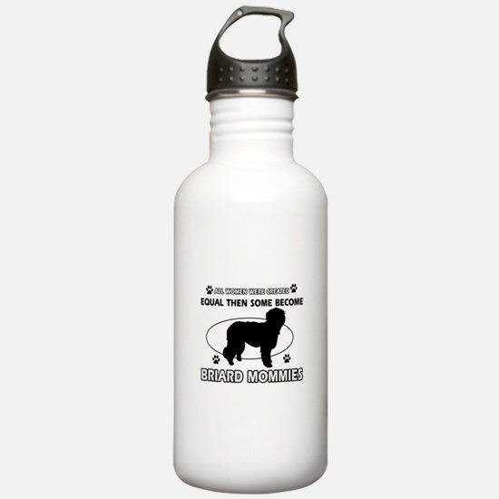 Briard mommy gifts Water Bottle