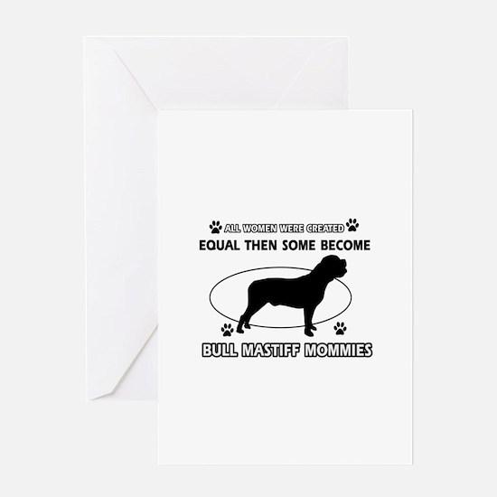 Bull Mastiff mommy gifts Greeting Card