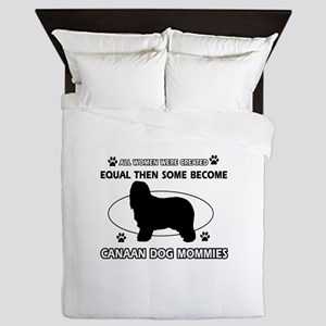 Canaan Dog mommy gifts Queen Duvet