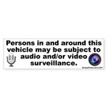 Easy Vehicle Security Bumper Sticker