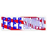 Free Snowden Bumper Sticker