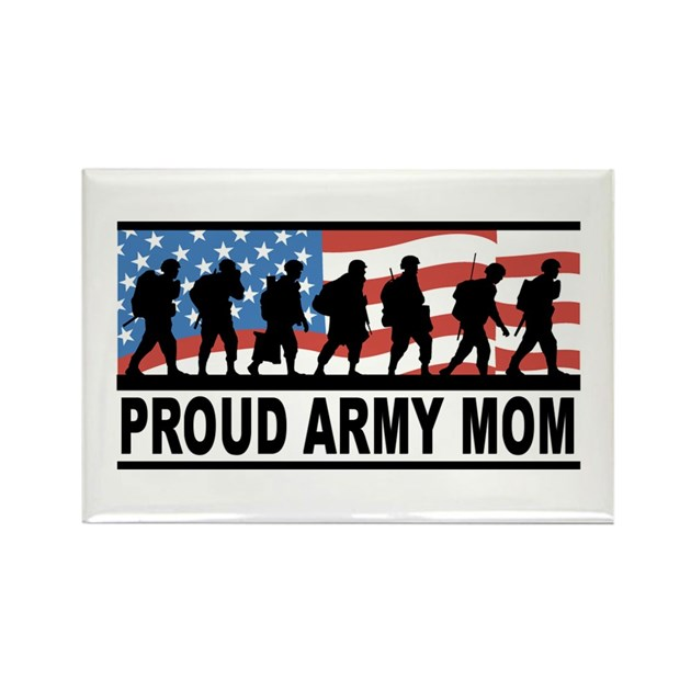Proud Army Mom Magnet by PlaytimeAndParty