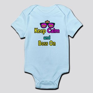 Crown Sunglasses Keep Calm And Boss On Infant Body