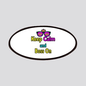 Crown Sunglasses Keep Calm And Boss On Patches